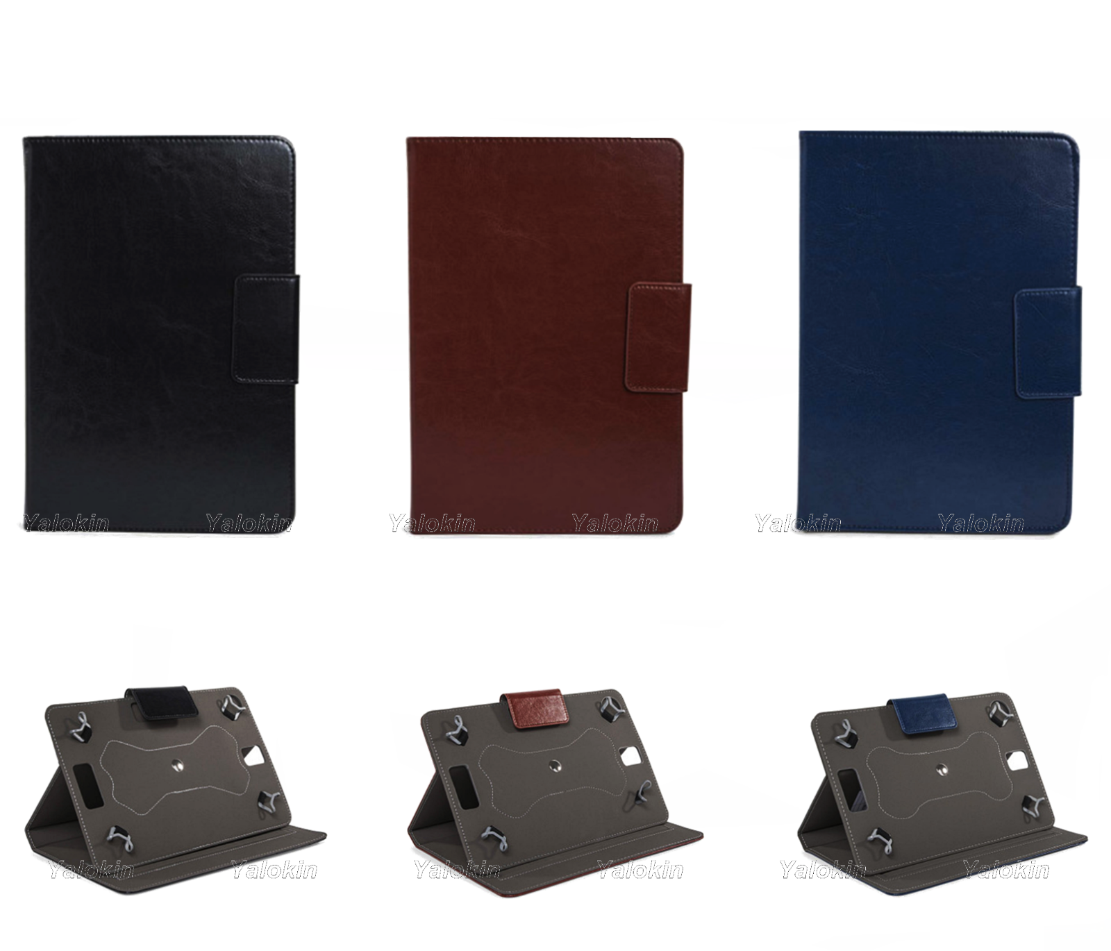 New Stylish Leather Cover Case Folio With Rotating Panel For Lenovo 360 Degree Ipad 2 3 4