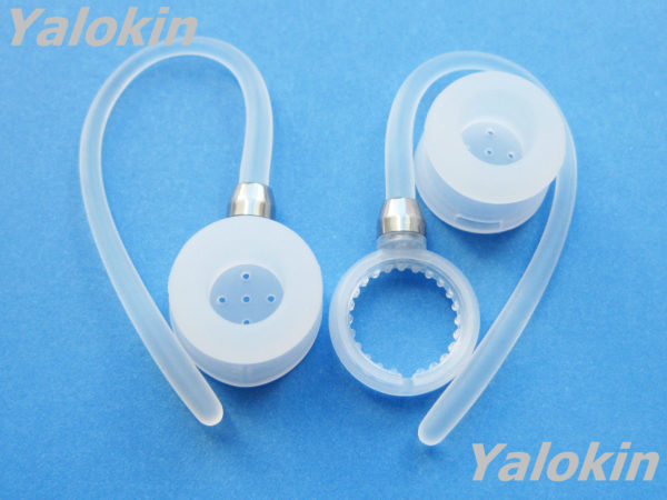 3cf88327d8a 2 White Ear-hooks and Earbuds for Motorola HX600 Boom Bluetooth Headset  Devices